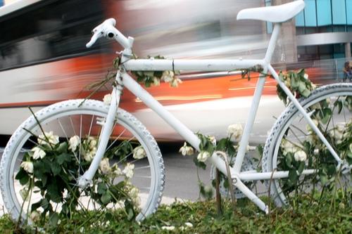 A bicicleta branca